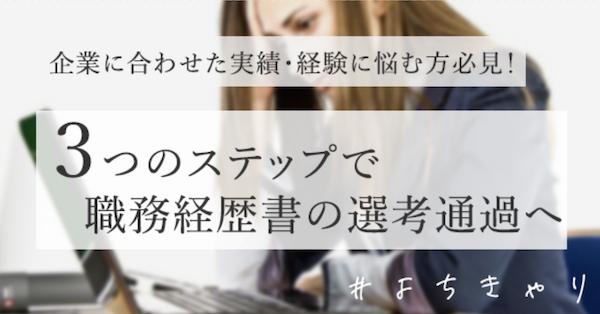 職務経歴書_実績・経験
